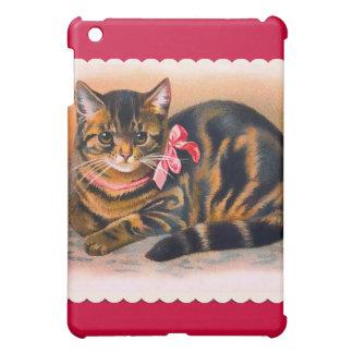 Chat vintage de Kitty d'art Coque iPad Mini