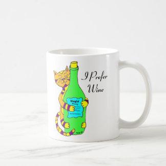 """Chat Winey, """"je tasse de café, de thé ou de vin"""