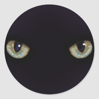 Chat-yeux Sticker Rond