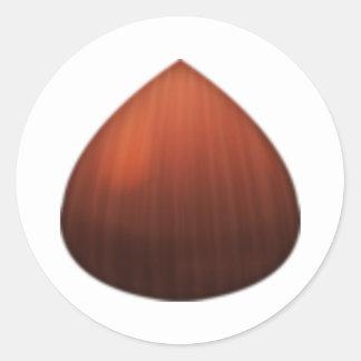 Châtaigne - Emoji Sticker Rond