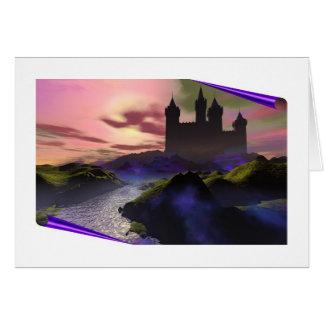 Château dans la carte de brume