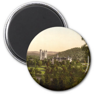 Château de Balmoral, Deeside royal, Ecosse Magnet Rond 8 Cm