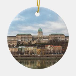 Château de Buda Hongrie Budapest au jour Ornement Rond En Céramique