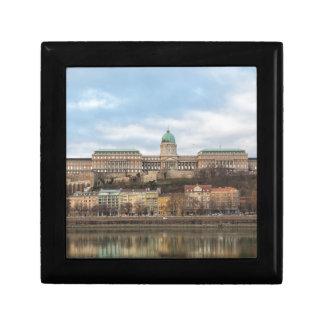 Château de Buda Hongrie Budapest au jour Petite Boîte À Bijoux Carrée