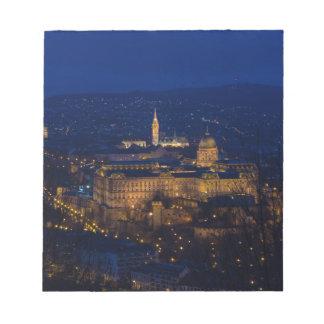 Château de Buda Hongrie Budapest la nuit Blocs Notes