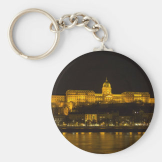 Château de Buda Hongrie Budapest la nuit Porte-clé Rond