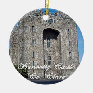 Château de Bunratty, Irlande, ornement de Noël,