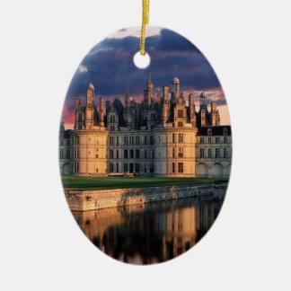 château de chateau de chambord, le Val de Loire, Ornement Ovale En Céramique