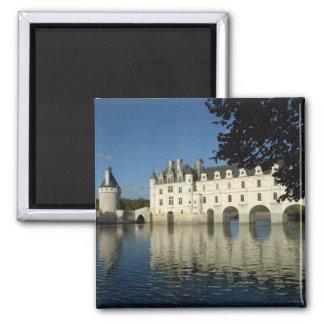 Château de Chenonceau, rivière Cher, Loir-et-Cher, Magnet Carré