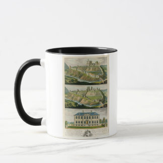 Château de Corfe dans son état original, comme une Tasse