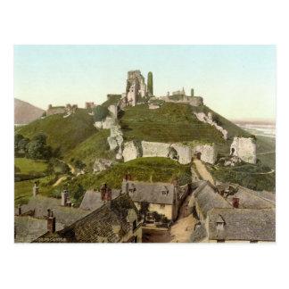 Château de Corfe, île de Purbeck, Dorset c.1895 Carte Postale