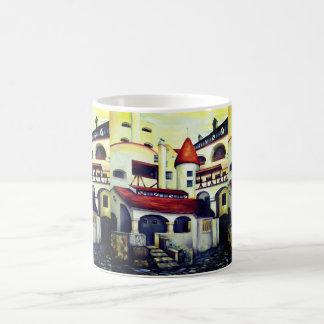 Château de Dracula - la cour intérieure, peignant Mug