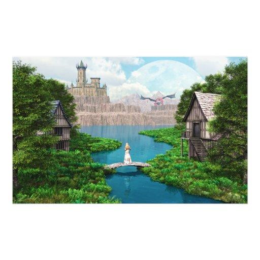 Château de dragon impression photographique