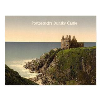 Château de Dunsky à la carte postale de