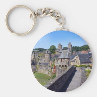 Château de Fougères en France Porte-clé Rond