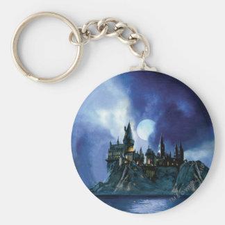 Château de Harry Potter   Hogwarts la nuit Porte-clé Rond
