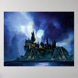 Château de Harry Potter   Hogwarts la nuit Posters