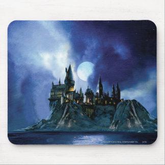 Château de Harry Potter   Hogwarts la nuit Tapis De Souris