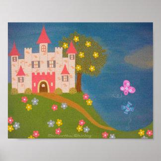 Château de papillon - 8x10 princesse Palace Kids Posters