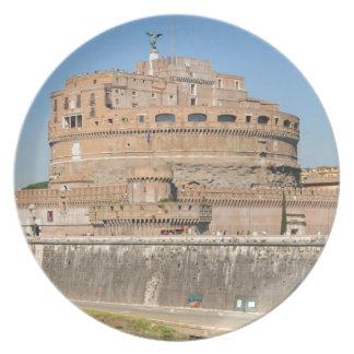 Château de Sant'Angelo à Rome, Italie Assiettes En Mélamine