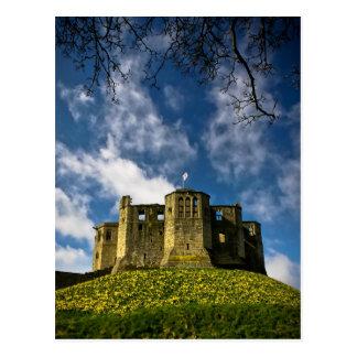 Château de Warkworth et carte postale d'ermitage