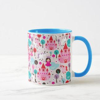 château et licorne de princesse d'enfants mug
