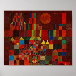 Château et Sun de Paul Klee Poster