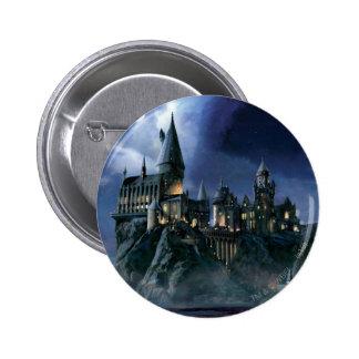 Château | Hogwarts éclairé par la lune de Harry Badges