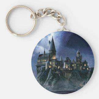 Château | Hogwarts éclairé par la lune de Harry Porte-clé Rond