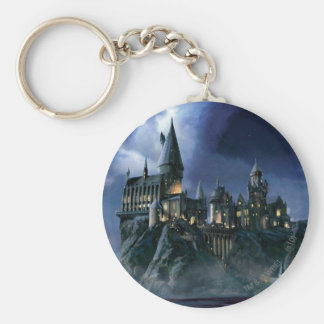Château | Hogwarts éclairé par la lune de Harry Porte-clés