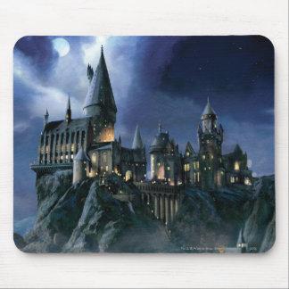 Château | Hogwarts éclairé par la lune de Harry Tapis De Souris