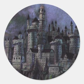 Château | Hogwarts magnifique de Harry Potter Sticker Rond