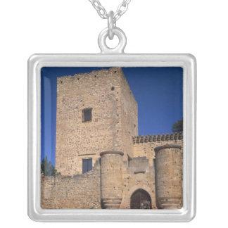 Château Pedraza, Castille Léon, Espagne 2 Pendentif Carré