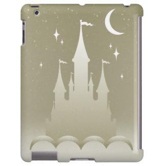 Château rêveur argenté dans le ciel étoilé de lune