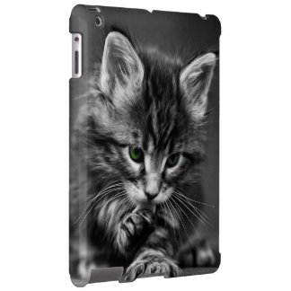 Chaton aux yeux verts coque iPad