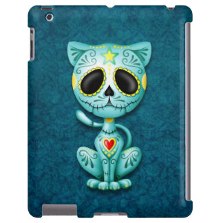 Chaton bleu de sucre de zombi coque iPad