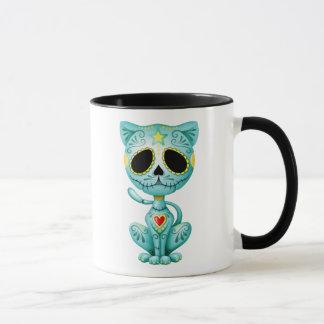 Chaton bleu de sucre de zombi tasses