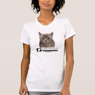 Chaton de délivrance de chat de Greyfoot avec la T-shirt