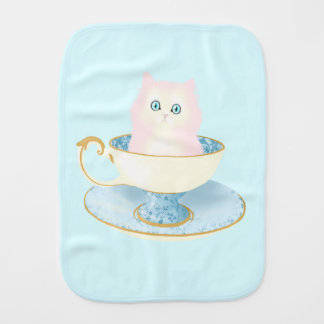 Chaton de tasse de thé linges de bébé