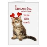 Chaton drôle Valentine Cartes De Vœux