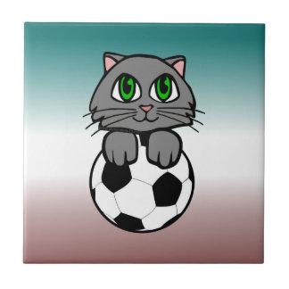 Chaton du football petit carreau carré