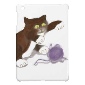 Chaton et la boule pourpre du fil coques iPad mini