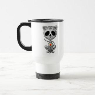 Chaton foncé de sucre de zombi mug de voyage