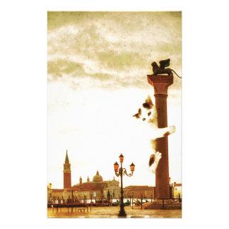 Chaton géant à Venise Motifs Pour Papier À Lettre