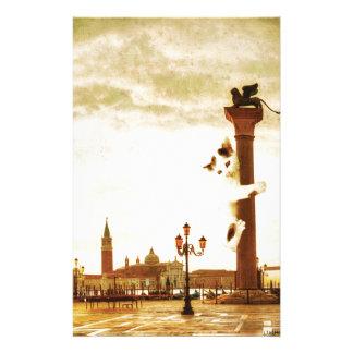 Chaton géant à Venise Papier À Lettre