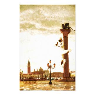 Chaton géant à Venise Papier À Lettre Customisé