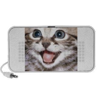 chaton haut-parleurs notebook