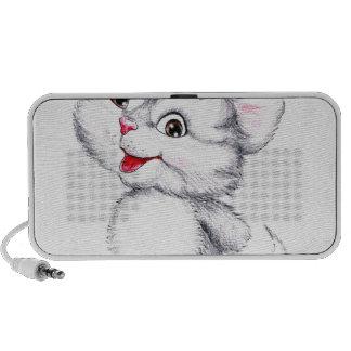 Chaton mignon haut-parleurs iPod