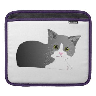 Chaton noir, gris et blanc housses iPad