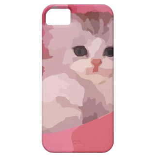 chaton pelucheux rose coque iPhone 5 Case-Mate
